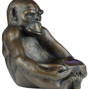 Bronze sitting monkey
